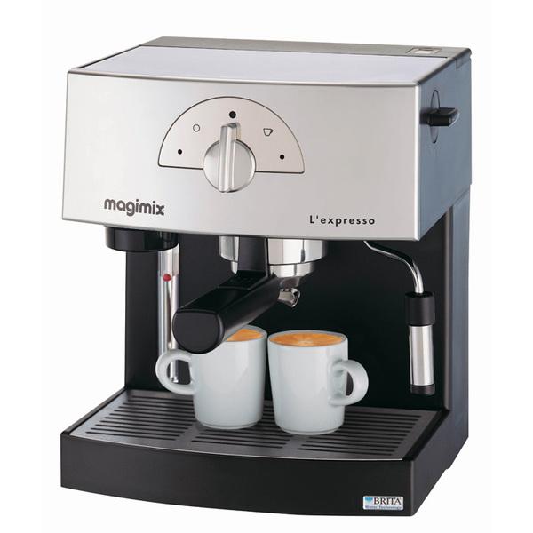 MACHINE EXPRESSO CHROME MAT 19 BARS CAFE EN DOSETTE OU MOULU