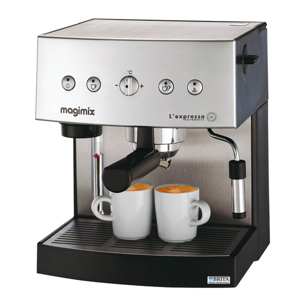 machine expresso chrome mat automatique 19 bars dosette/moulu