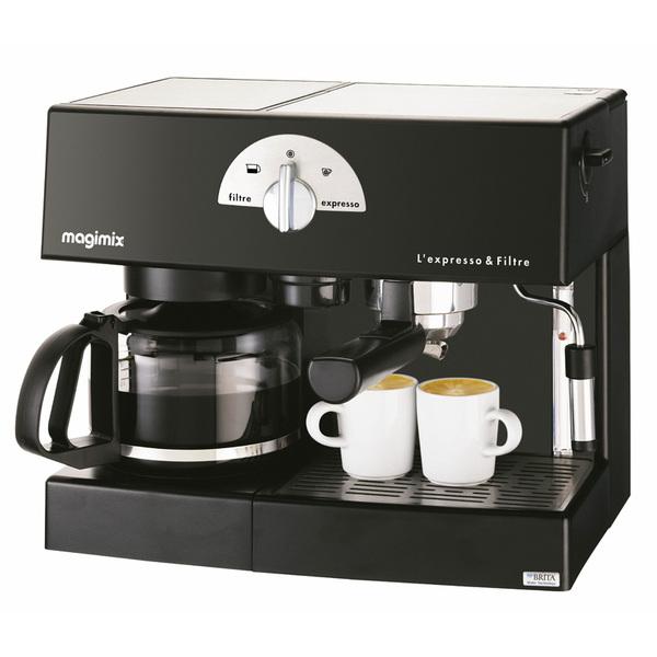 MACHINE EXPRESSO & FILTRE AUTOMATIQUE NOIR 19 BARS CAFE EN DOSETTE OU MOULU