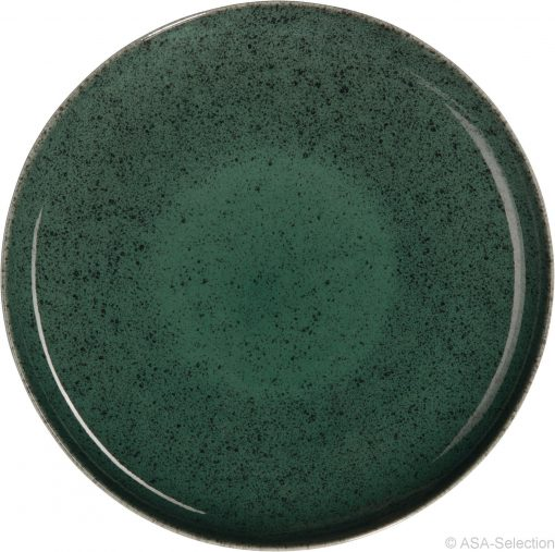 Service vaisselle Saison Algo vert, ALGO assiette plate D. 26,5 cm