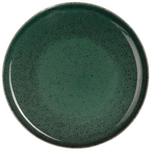 Service vaisselle Saison Algo vert, ALGO assiette de présentation D 31 cm