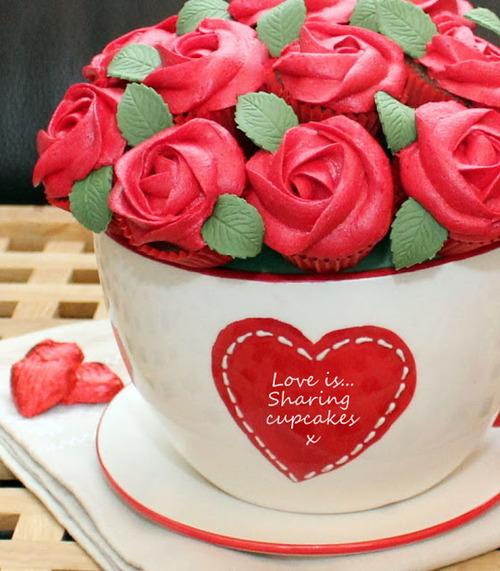 Bouquet de cupcakes dans une tasse
