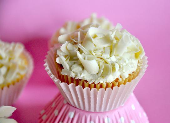 Recette: Cupcakes au chocolat blanc