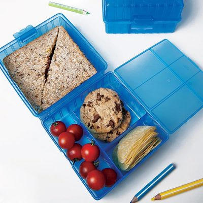 LUNCH BOX COMPART SMILEY JUNIOR BLEU