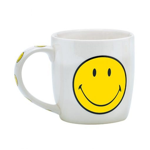 MUG SMILEY 35CL BLANC