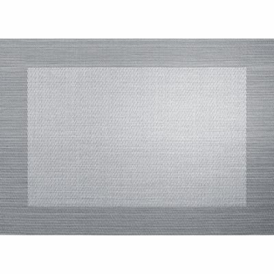 PVC SET DE TABLE 33X46CM METALLIC ARGENT