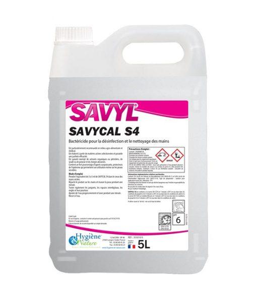 SAVYCAL S4 LIQUIDE NETTOYANT MAINS 5L