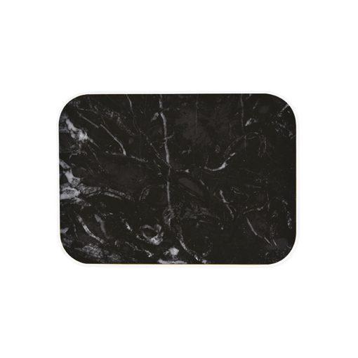 SMOSE PLATEAU 40X30CM PLASTIQUE MARBRE/BLANC