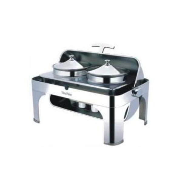 CHAFING DISH RECTANGLE A MARMITE A SOUPE ROLL TOP 670X460X440 YFL06