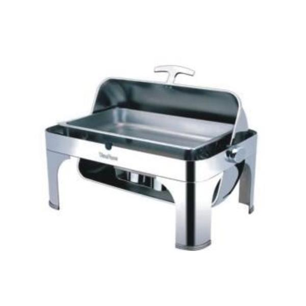 CHAFING DISH RECTANGLE ROLL TOP GN1/1 YFL02-1 + RESISTANCE
