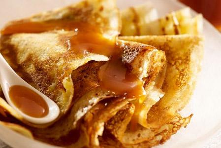 Recette: Crêpes roulées au caramel au beurre salé