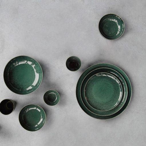 Service vaisselle Saison Algo vert