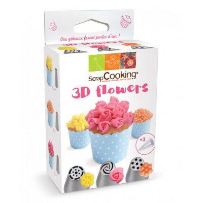 KIT DOUILLES 3D FLOWERS