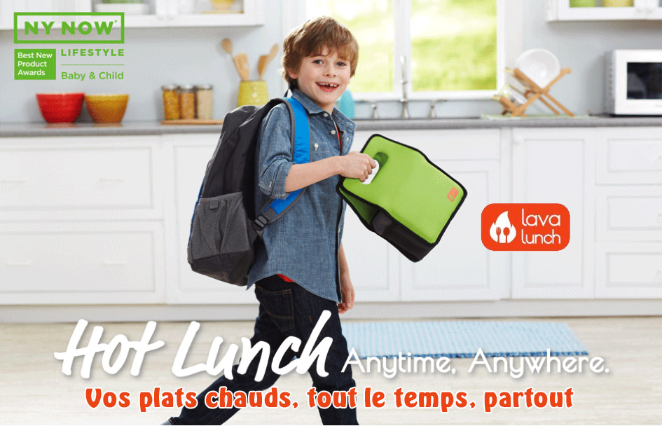 Lava Lunch garde les plats au chaud jusqu'à 5 heures !