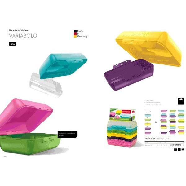 VARIABOLO SET CLIPBOX 3 PIECES COLORIS DIVERS